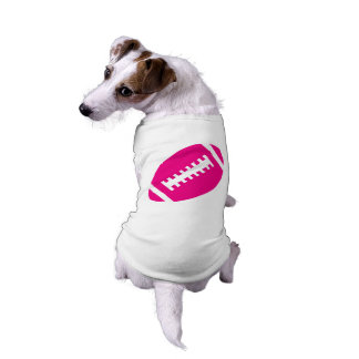 FOOTBALL Pets | Hot Pink Football Sports Graphic T-Shirt