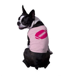 FOOTBALL Pets | Hot Pink Football Sports Graphic Tee