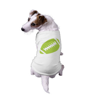 FOOTBALL Pets | Lime Green Football Sports Graphic Tee