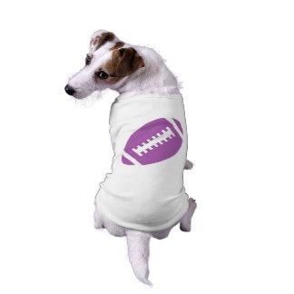 FOOTBALL Pets | Purple Football Sports Graphic T-Shirt