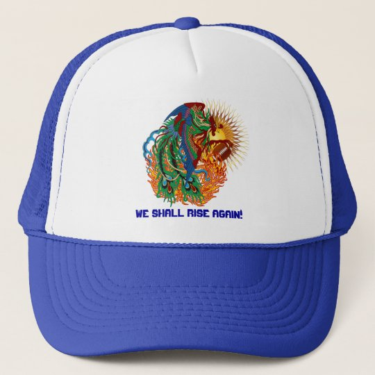 "Football Phoenix Bird ""Rise Again!"" Think you can? Trucker Hat"