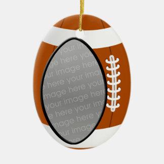 football photo ornament