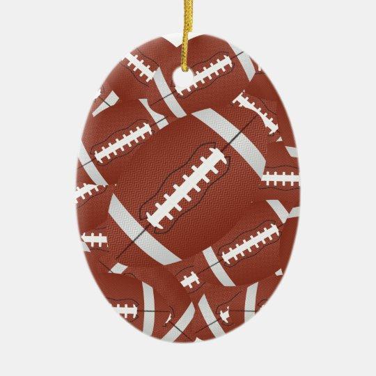 football pile ceramic ornament