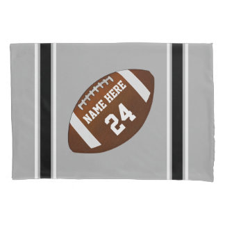 Football Pillow Case, Name, Jersey Number, Colors Pillowcase