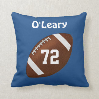 Football Pillows with Your NAME and JERSEY NUMBER