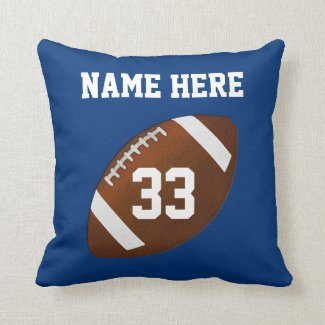 Football Pillows Your Team COLORS and TEXT