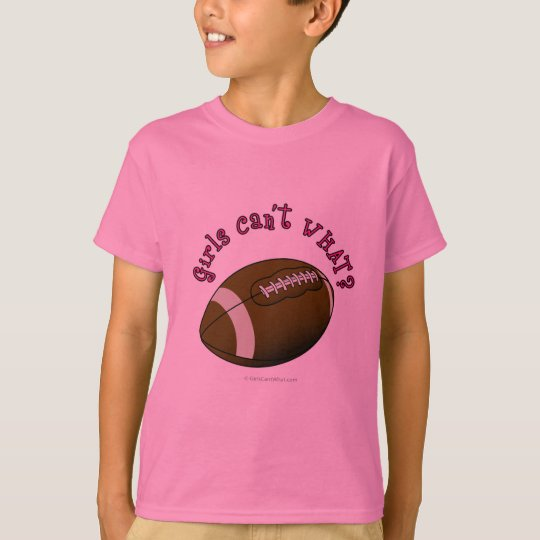 Football - Pink Text T-Shirt