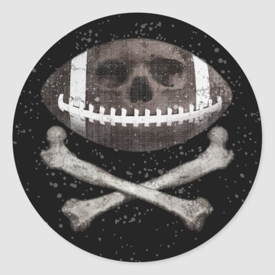 Football Pirate II Classic Round Sticker