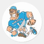 Football Pirate Round Sticker