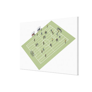 Football pitch canvas print