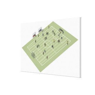 Football pitch canvas print