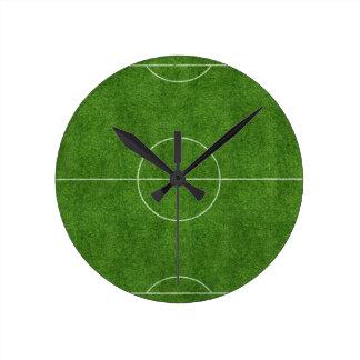 football pitch soccer footy grass design clock