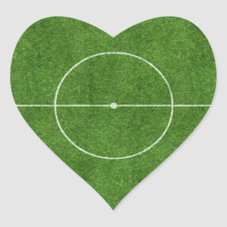 football pitch soccer footy grass design heart sticker
