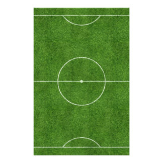 football pitch soccer footy grass design customised stationery