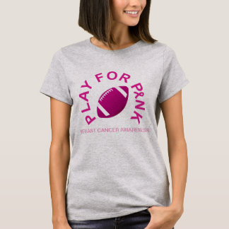 Football Play for Breast Cancer Awareness Shirt