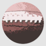 Football Playa' Classic Round Sticker