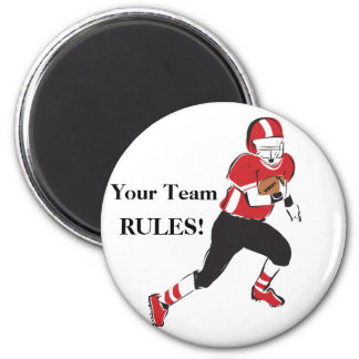 Football Player 2 Inch Round Magnet