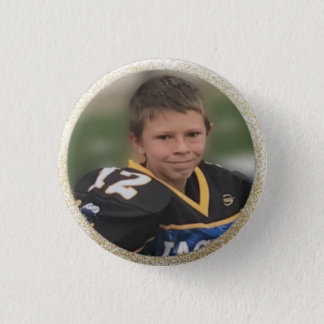 Football Player Add Own Photo Pinback Button