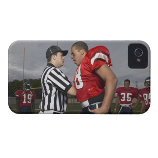 Football Player Arguing with Referee iPhone 4 Cases