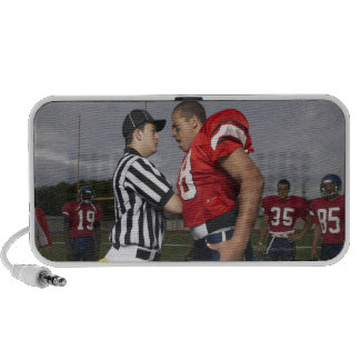 Football Player Arguing with Referee Speaker