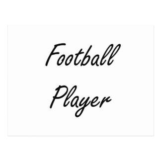 Football Player Artistic Job Design Postcard