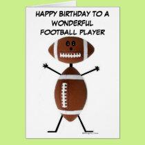 Football Player Birthday Card