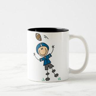 Football Player Blue Mug