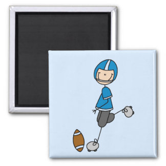 Football  Player Blue T-shirts and Gifts 2 Inch Square Magnet