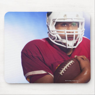Football player carrying ball mouse pad
