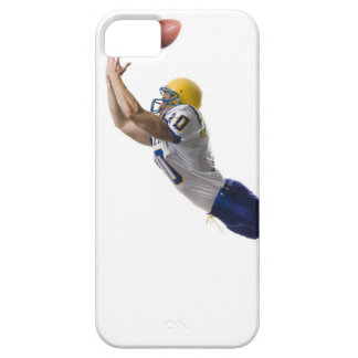 football player catching a pass iPhone 5 case