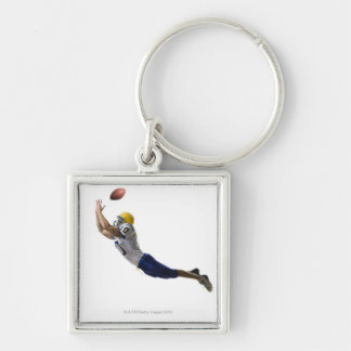 football player catching a pass keychain