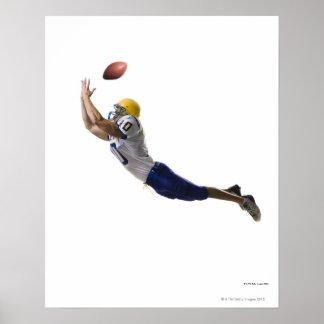 football player catching a pass poster