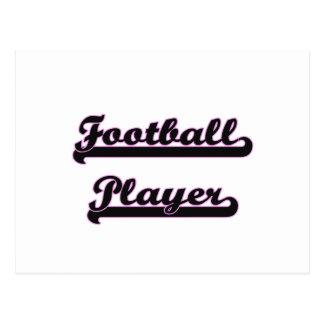 Football Player Classic Job Design Postcard