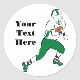 Football Player Classic Round Sticker