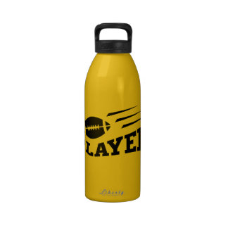 Football player cool sports water bottle