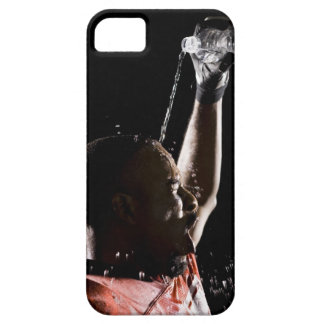 Football player cooling off with water iPhone SE/5/5s case