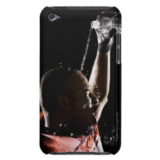 Football player cooling off with water iPod touch Case-Mate case