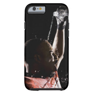 Football player cooling off with water tough iPhone 6 case