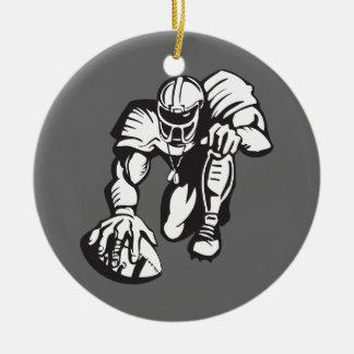 football player fever ceramic ornament