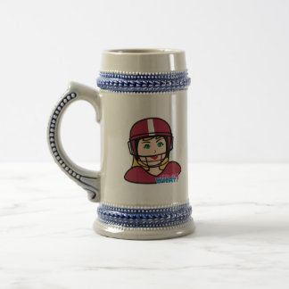 Football Player Girl Beer Stein