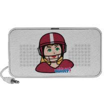 Football Player Girl iPhone Speaker