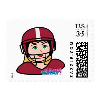 Football Player Girl Postage
