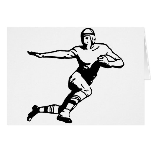 Football Player Greeting Cards