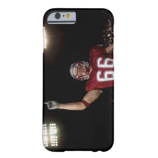 Football player holding up index finger barely there iPhone 6 case