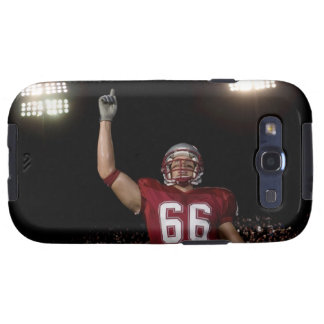 Football player holding up index finger galaxy s3 covers