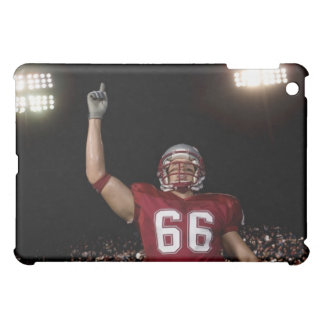 Football player holding up index finger iPad mini covers