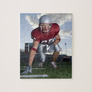 Football player in game stance puzzle