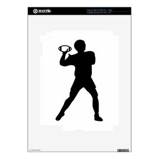 Football player iPad 2 decal