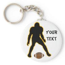 football player keychain
