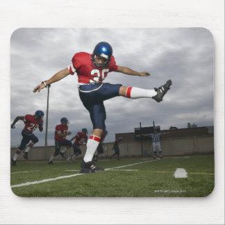 Football Player Kicking Football 2 Mouse Pad